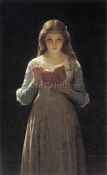 PIERRE-AUGUSTE COT YOUNG MAIDEN READING A BOOK ARTIST PAINTING REPRODUCTION OIL