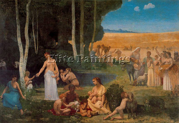 PIERRE CECILE PUVIS DE CHEVANNES PUVI7 ARTIST PAINTING REPRODUCTION HANDMADE OIL