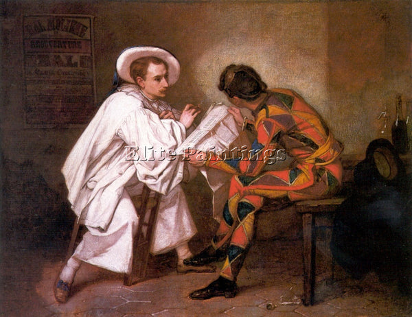 THOMAS COUTURE PIERROT THE POLITICIAN ARTIST PAINTING REPRODUCTION HANDMADE OIL