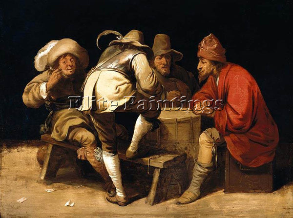 PIETER JANSZ QUAST SOLDIERS GAMBLING WITH DICE ARTIST PAINTING REPRODUCTION OIL