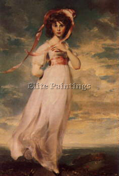 SIR THOMAS LAWRENCE PINKIE  ARTIST PAINTING REPRODUCTION HANDMADE OIL CANVAS ART