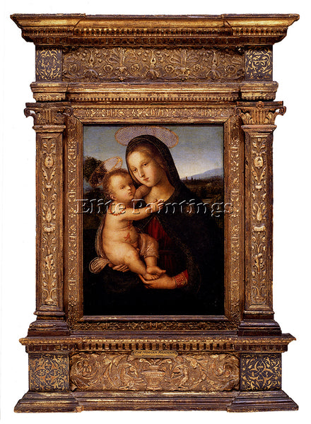 PINTURICCHIO BERNARDINO DI BETTO MADONNA AND CHILD BEFORE LANDSCAPE PAINTING OIL