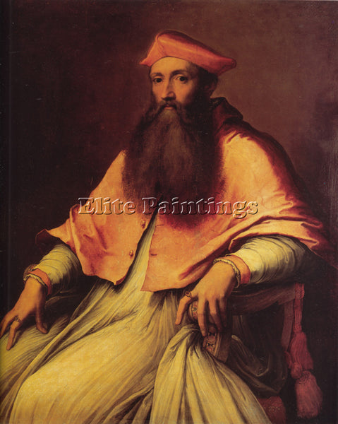SEBASTIANO DEL PIOMBO  PORTRAIT OF CARDINAL REGINALD POLE ARTIST PAINTING CANVAS