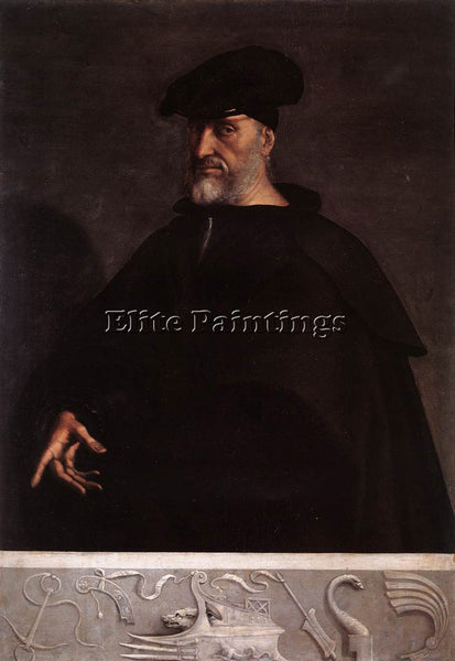 SEBASTIANO DEL PIOMBO PORTRAIT OF ANDREA DORIA ARTIST PAINTING REPRODUCTION OIL