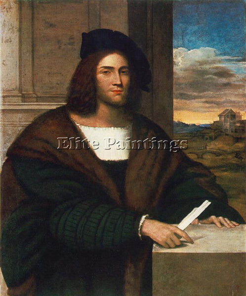 SEBASTIANO DEL PIOMBO PORTRAIT OF A MAN ARTIST PAINTING REPRODUCTION HANDMADE