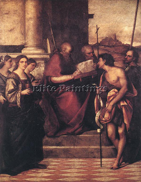SEBASTIANO DEL PIOMBO SAN GIOVANNI CRISOSTOMO AND SAINTS ARTIST PAINTING CANVAS