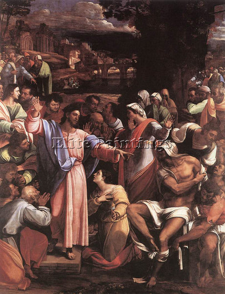 SEBASTIANO DEL PIOMBO THE RAISING OF LAZARUS ARTIST PAINTING HANDMADE OIL CANVAS