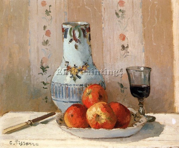 CAMILLE PISSARRO STILL LIFE WITH APPLES AND PITCHER ARTIST PAINTING REPRODUCTION
