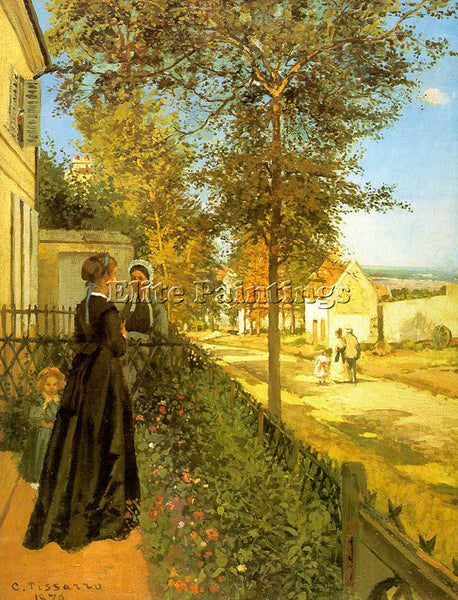 CAMILLE PISSARRO LOUVECIENNES THE ROAD TO VERSAILLES ARTIST PAINTING HANDMADE