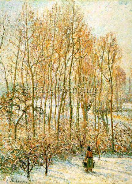 CAMILLE PISSARRO MORNING SUNLIGHT ON THE SNOW ERAGNY SUR EPTE 1895 REPRODUCTION