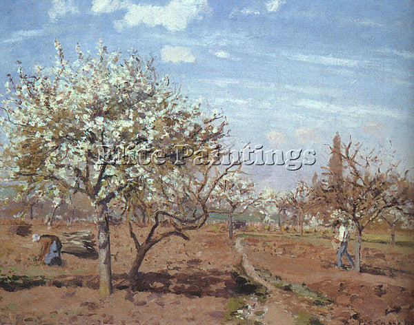 CAMILLE PISSARRO ORCHARD IN BLOOM AT LOUVECIENNES ARTIST PAINTING REPRODUCTION
