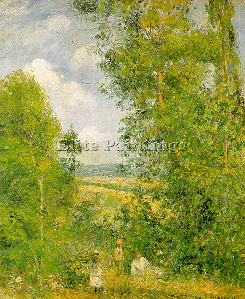 CAMILLE PISSARRO RESTING IN THE WOODS AT PONTOISE 1878 ARTIST PAINTING HANDMADE