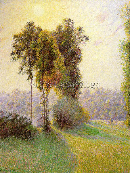 CAMILLE PISSARRO SUNSET AT ST CHARLES ERAGNY 1891 ARTIST PAINTING REPRODUCTION
