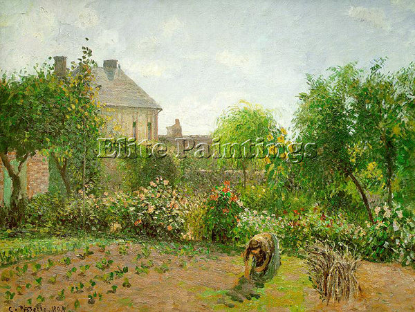 CAMILLE PISSARRO THE ARTIST S GARDEN AT ERAGNY 1898 ARTIST PAINTING REPRODUCTION