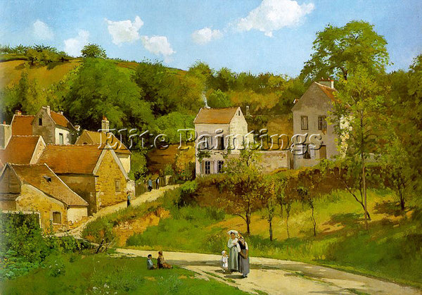 CAMILLE PISSARRO THE HERMITAGE AT PONTOISE ARTIST PAINTING REPRODUCTION HANDMADE