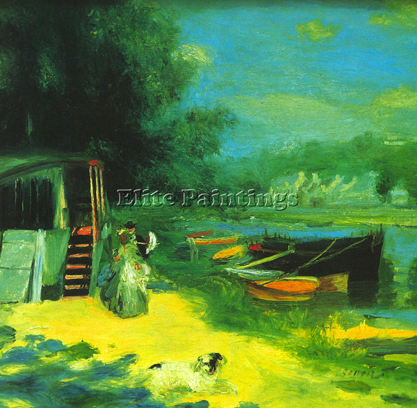 RENOIR PLACE FOR BADING ARTIST PAINTING REPRODUCTION HANDMADE CANVAS REPRO WALL
