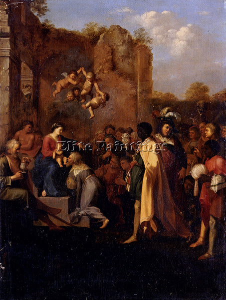 CORNELIS VAN POELENBURGH ADORATION OF THE MAGI ARTIST PAINTING REPRODUCTION OIL
