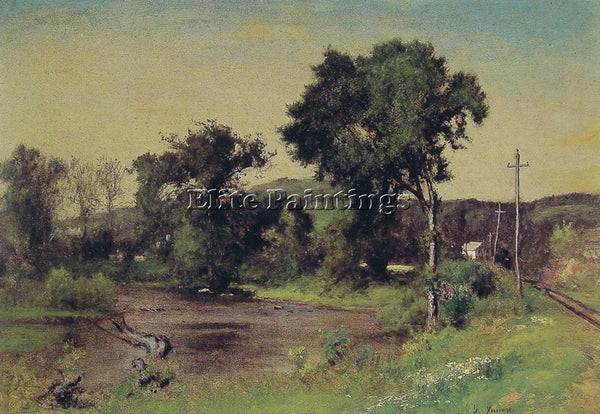 GEORGE INNESS POMPTON JUNCTION ARTIST PAINTING REPRODUCTION HANDMADE OIL CANVAS