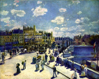 RENOIR PONT NEUF ARTIST PAINTING REPRODUCTION HANDMADE OIL CANVAS REPRO WALL ART