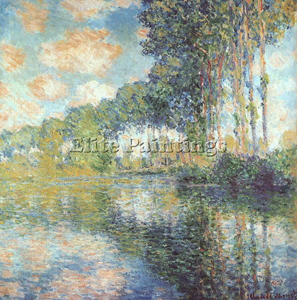 CLAUDE MONET POPLARS ON THE EPTE ARTIST PAINTING REPRODUCTION HANDMADE OIL REPRO