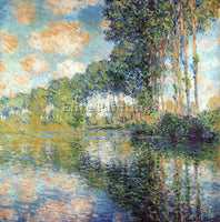 MONET POPLARS ON THE EPTE ARTIST PAINTING REPRODUCTION HANDMADE OIL CANVAS REPRO