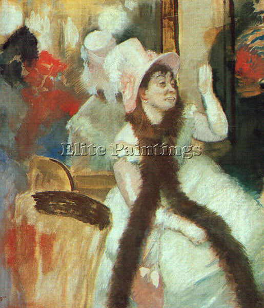 EDGAR DEGAS PORTRAIT AFTER COSTUME BALL PORTRAIT MADAME DIETZ MONNIN OIL CANVAS