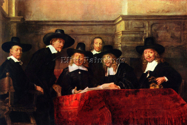 REMBRANDT PORTRAIT OF CHAIRMAN OF THE CLOTH MAKERS GUILD ARTIST PAINTING CANVAS