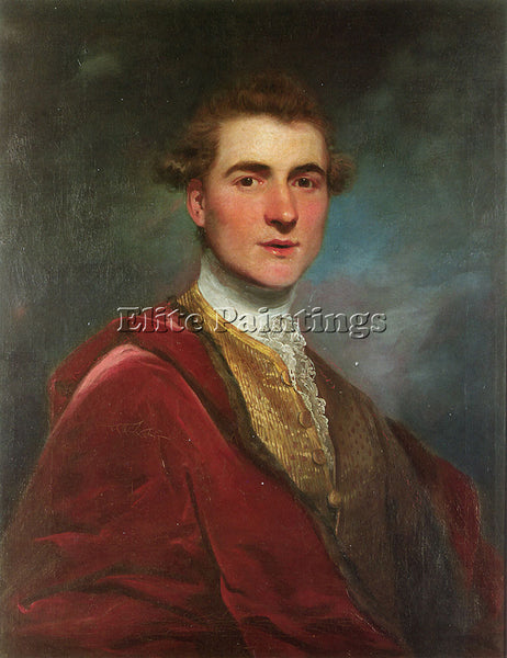 JOSHUA REYNOLDS PORTRAIT OF CHARLES HAMILTON ARTIST PAINTING HANDMADE OIL CANVAS