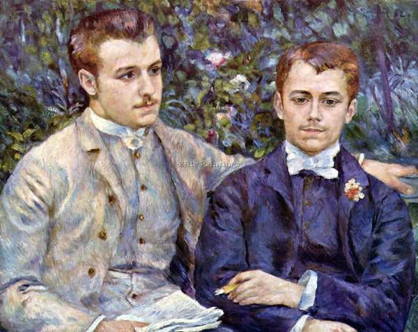 RENOIR PORTRAIT OF CHARLES AND GEORGE ARTIST PAINTING REPRODUCTION HANDMADE OIL