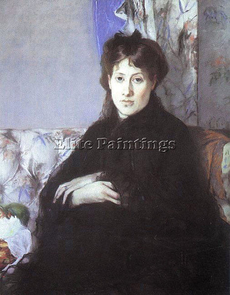 BERTHE MORISOT PORTRAIT OF EDMA PONTILLON NEE  ARTIST PAINTING REPRODUCTION OIL