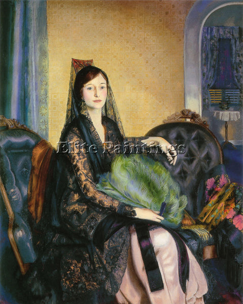GEORGE WESLEY BELLOWS PORTRAIT OF ELIZABETH ALEXANDER ARTIST PAINTING HANDMADE