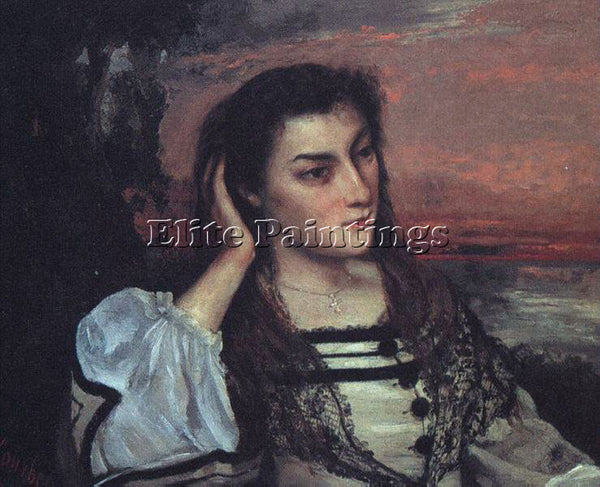 GUSTAVE COURBET PORTRAIT OF GABRIELLE BORREAU THE DREAMER ARTIST PAINTING CANVAS