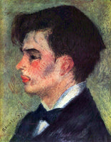 RENOIR PORTRAIT OF GEORGES RIVIERE ARTIST PAINTING REPRODUCTION HANDMADE OIL ART