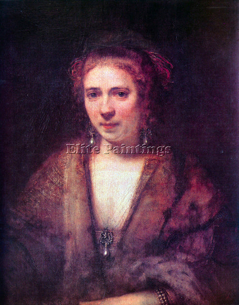 REMBRANDT PORTRAIT OF HENDRICKJE STOFFELS 2  ARTIST PAINTING HANDMADE OIL CANVAS