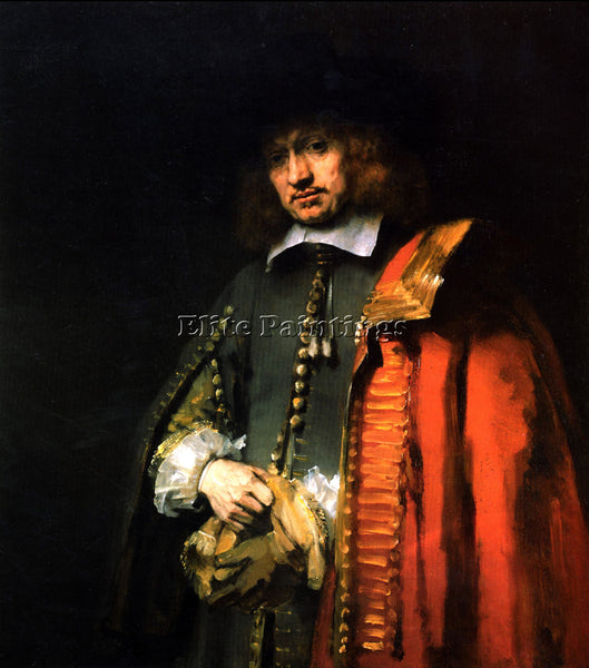 REMBRANDT PORTRAIT OF JAN SIX ARTIST PAINTING REPRODUCTION HANDMADE CANVAS REPRO