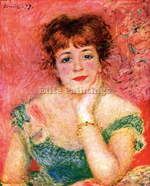RENOIR PORTRAIT OF JEANNE SAMARY ARTIST PAINTING REPRODUCTION HANDMADE OIL REPRO
