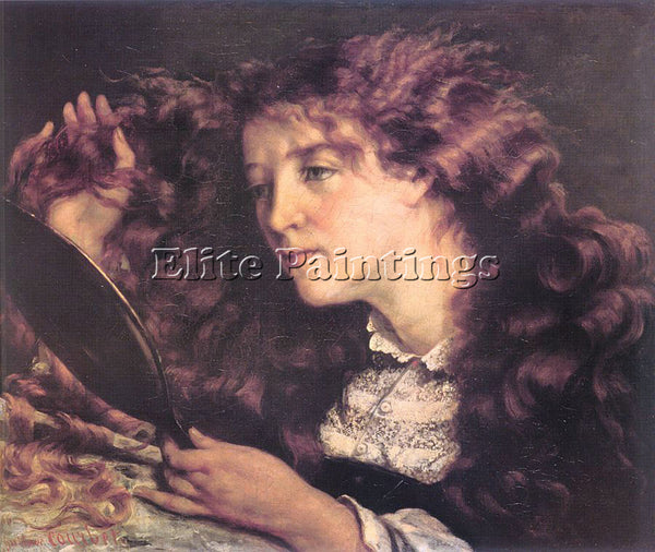 GUSTAVE COURBET PORTRAIT OF JO THE BEAUTIFUL IRISH GIRL ARTIST PAINTING HANDMADE