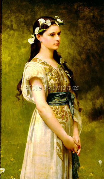JULES JOSEPH LEFEBVRE PORTRAIT OF JULIA FOSTER WARD ARTIST PAINTING REPRODUCTION