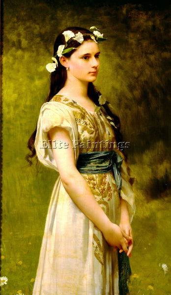 JULES JOSEPH LEFEBVRE PORTRAIT OF JULIA FOSTER WARD BIG ARTIST PAINTING HANDMADE