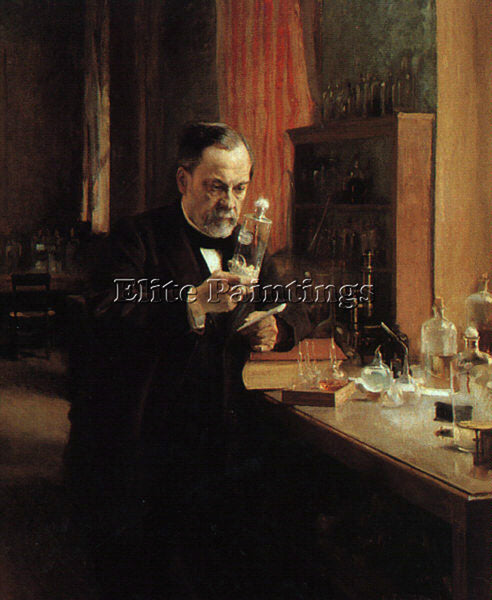 ALBERT EDELFELT PORTRAIT OF LOUIS PASTEUR ARTIST PAINTING REPRODUCTION HANDMADE
