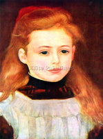 RENOIR PORTRAIT OF LUCIE BERARD ARTIST PAINTING REPRODUCTION HANDMADE OIL CANVAS