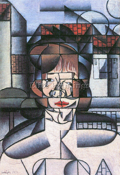 JUAN GRIS PORTRAIT OF MADAME GERMAINE RAYNAL 1  ARTIST PAINTING REPRODUCTION OIL