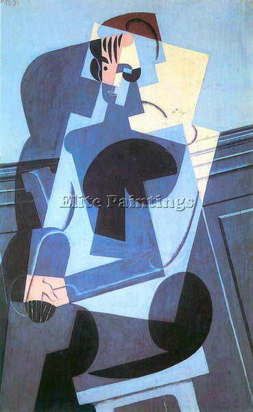 JUAN GRIS PORTRAIT OF MADAME JOSETTE GRIS ARTIST PAINTING REPRODUCTION HANDMADE