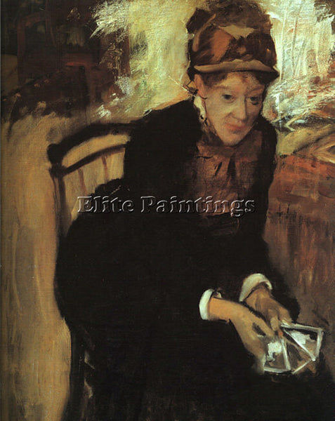 EDGAR DEGAS PORTRAIT OF MARY CASSATT ARTIST PAINTING REPRODUCTION HANDMADE OIL