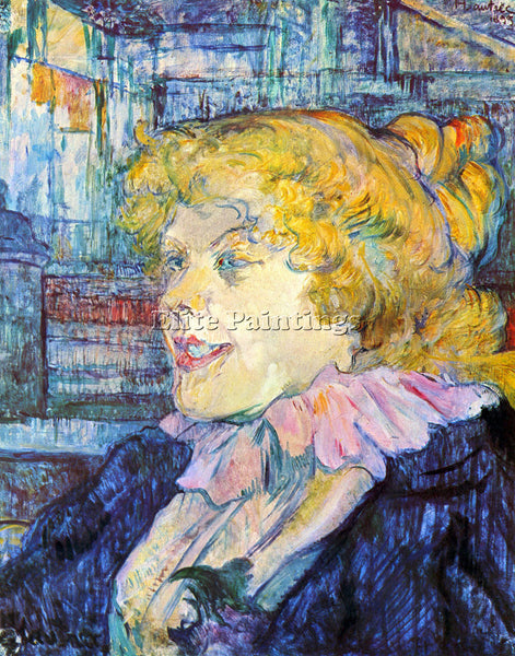 TOULOUSE-LAUTREC PORTRAIT OF MISS DOLLY ARTIST PAINTING REPRODUCTION HANDMADE