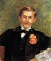 RENOIR PORTRAIT OF MONSIER GERMAINE ARTIST PAINTING REPRODUCTION HANDMADE OIL