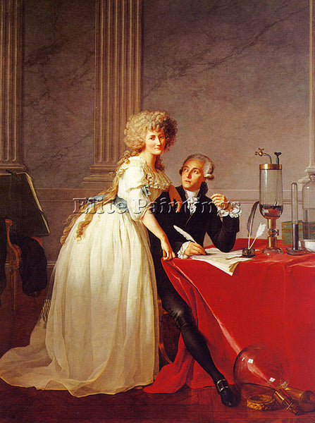 JACQUES-LOUIS DAVID PORTRAIT OF MONSIEUR LAVOISIER AND HIS WIFE CGF PAINTING OIL