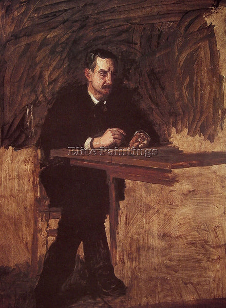 THOMAS EAKINS PORTRAIT OF PROFESSOR MARKS ARTIST PAINTING REPRODUCTION HANDMADE