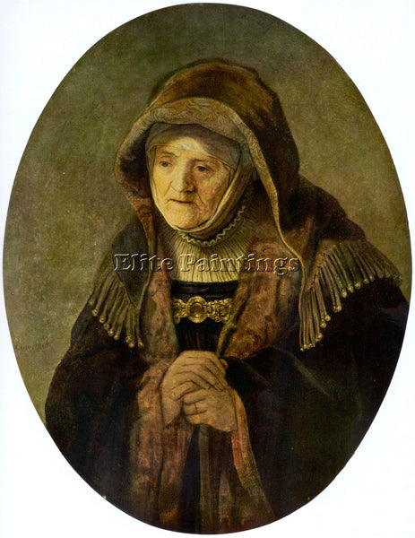 REMBRANDT PORTRAIT OF REMBRANDT S MOTHER IN AN OVAL ARTIST PAINTING REPRODUCTION