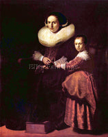 REMBRANDT PORTRAIT OF SUSANNA AND HER DAUGHTER PELLICORNE ARTIST PAINTING CANVAS